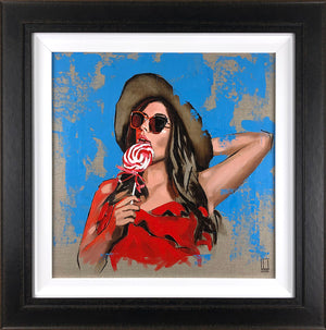 Richard Blunt - Cherry Swirl - Framed Original Sketch Artwork