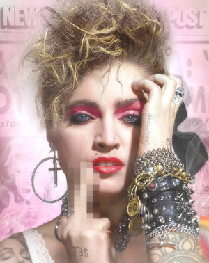 JJ Adams - Lucky Star (Madonna) - Colour Limited Edition Print