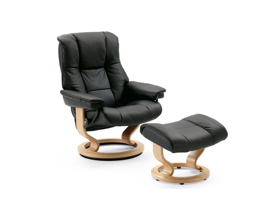 Stressless Mayfair Recliner Chair with Footstool (M)
