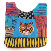 Load image into Gallery viewer, Cotton Shoulder Bag with embroidered Tiger