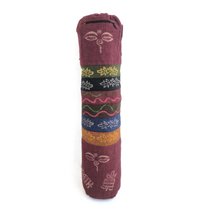 Yoga Mat Bag Printed Pattern with hand-embroidery