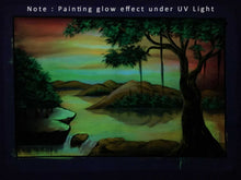 Load image into Gallery viewer, UV Glow Scenery painting made from fluorescent colors