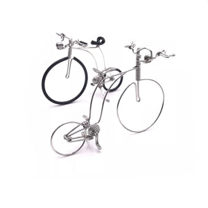 Miniature Wire Art Antique Bicycle Metal hand-crafted from aluminium wire