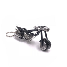 Load image into Gallery viewer, Miniature Wire Art Bike Keychain hand-crafted from aluminium wire