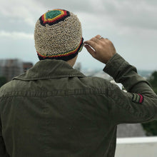 Load image into Gallery viewer, Hemp Beanie made from HEMP with rasta design