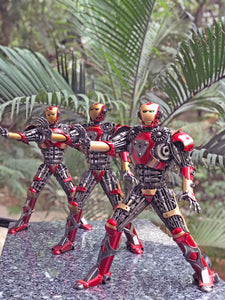 Avengers Iron Man metal action figure hand-crafted from junk auto parts with attention to detail