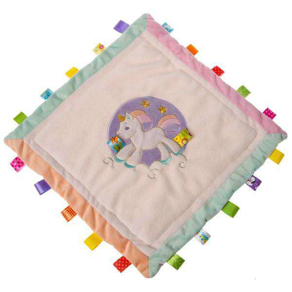 "Taggies | Dreamsicle Unicorn Cozy Security Blanket 16"" X 16"""