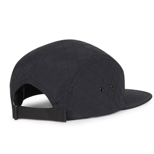 Glendale Cap in Black Quilted Nylon by Herschel Supply Co.  - 2
