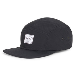 Glendale Cap in Black Quilted Nylon by Herschel Supply Co.  - 1