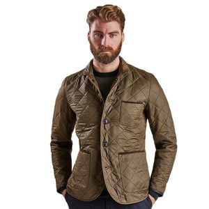 Racer Quilted Jacket in Olive by Barbour