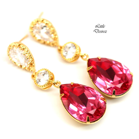 Gold and Pink Earrings RP-31