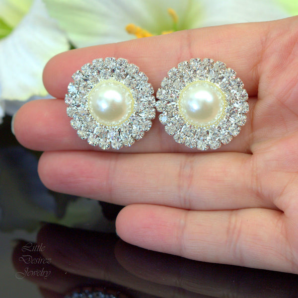 Bridal Crystal Stud Earrings GRACE