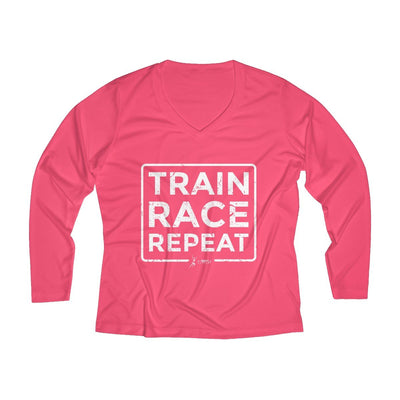 Train Race Repeat Women's Long Sleeve Tech Shirt