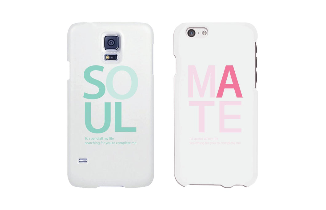 Soulmate Matching Couple White Phonecases (Set)