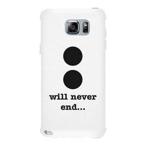 Will Never End-Right White Phone Case