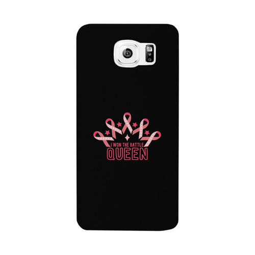 Won The Battle Queen Breast Cancer Awareness Black Phone Case