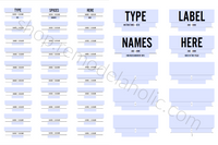 Custom Fillable Spice Labels and Pantry Labels, Modern Minimalist Style