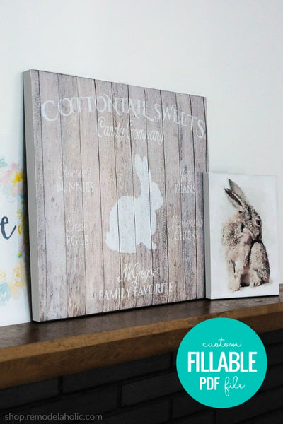 Personalized Easter Bunny Printable Art Set for Spring