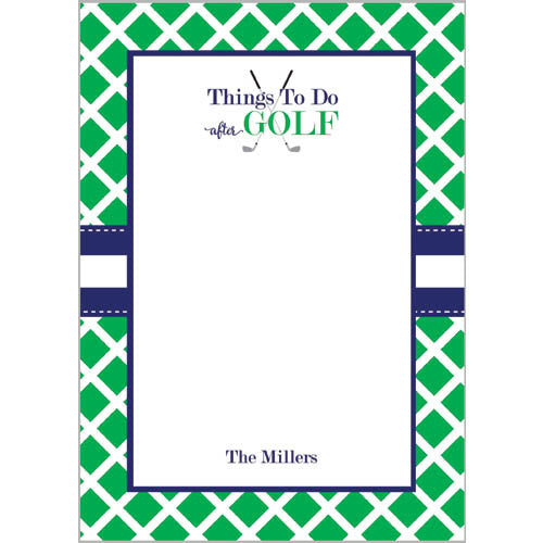 Things to Do AFTER Golf Personalized Notepad