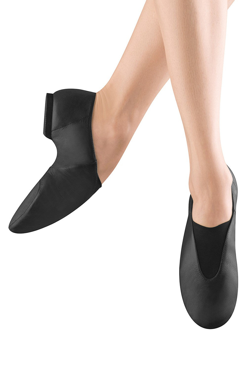 Adult Bloch Black Leather Jazz Shoes
