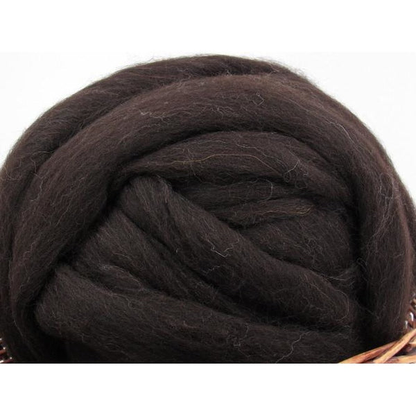 Brown Black Shetland Wool