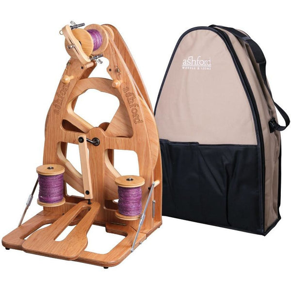 Ashford Joy-2 Spinning Wheel With Carry Bag - Single Treadle / Clear Finish - FREE Shipping