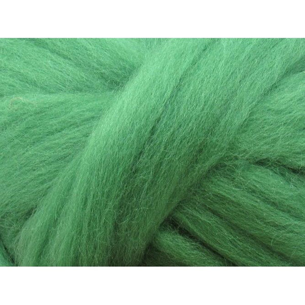 Dyed Corriedale Top / 1oz - Grass