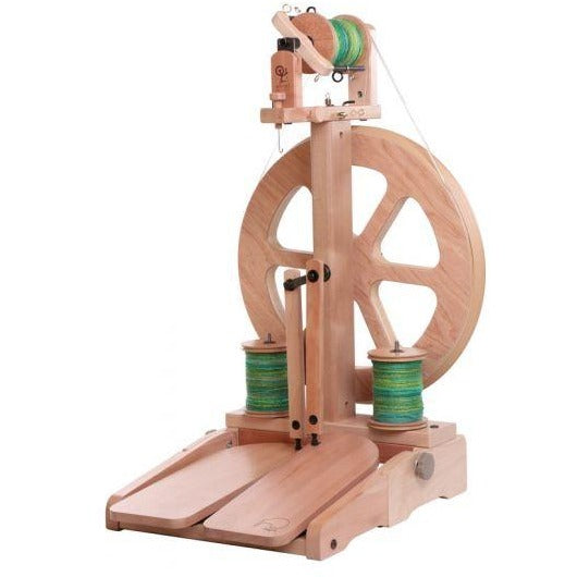 Ashford Kiwi-3 Spinning Wheel Folding Treadle / Clear Finish - FREE Shipping