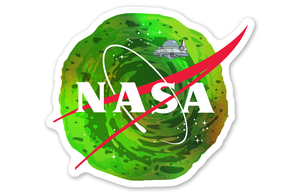 Holographic Rick and Morty NASA Logo Sticker