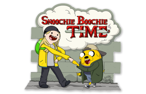 Snoochie Boochie Adventure Time Jay and Silent Bobo Mashup by Rockin Monkey of San Antonio