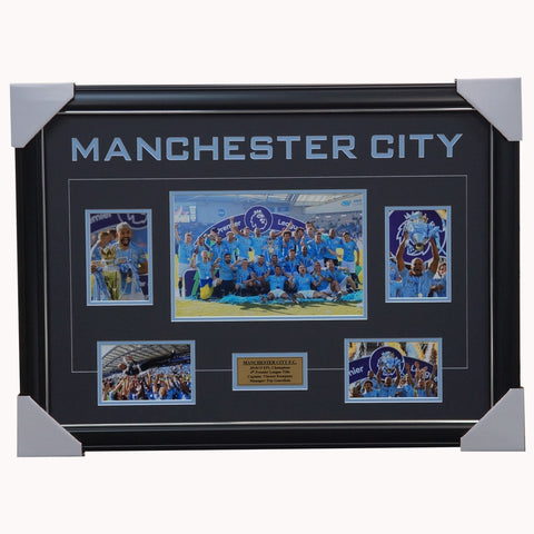 Manchester City 2019 EPL Champions Photo Collage Framed - 3680