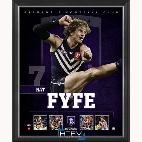 Nat Fyfe Fremantle Dockers F.C. Captain Official Licensed AFL Print Framed NEW - 3713
