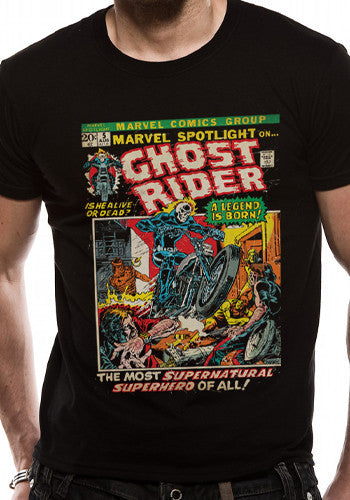 Mens Ghost Rider T Shirt in Black