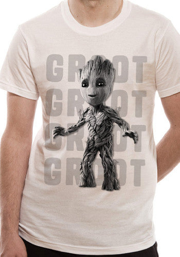 Groot Photo T-Shirt by Marvel in White
