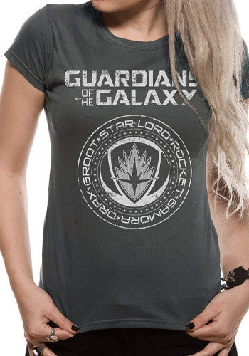 GOTG Crest T-Shirt by Marvel in Grey