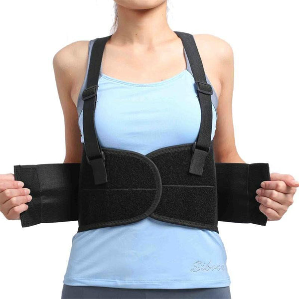 Women's Back Brace for Lower Posture Lumbar Pain Support with Suspenders