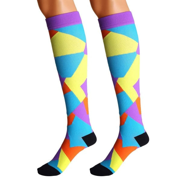 Puzzle Collection Compression Socks - 20-30 mmHg Support Stockings