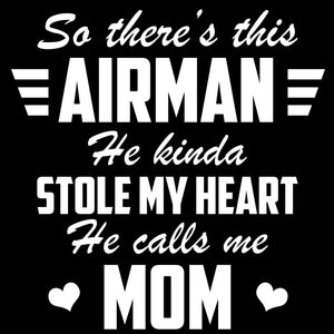 Air Force Mom Airman Stole My Heart Decal - MotherProud