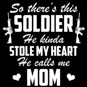 Graphics Decals - Army Mom Soldier Stole My Heart Decal