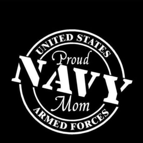 Sticker - Proud Navy Vinyl Car Decal Mom