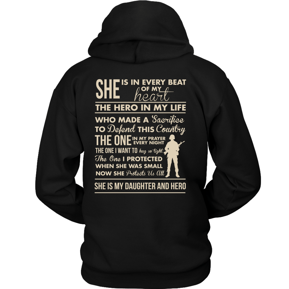 T-shirt - Marine Mom She's My Daughter And Heroes