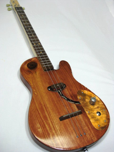 Solid Body 3 String Electric Single Cutaway Guitar #SB6 handmade by Mike Snowden in his Marietta GA shop Snowden Guitars.