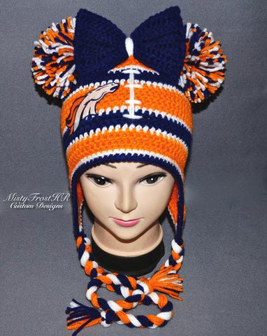 *****     Digital Crochet Pattern     *****     Double Pom Cheer Hat