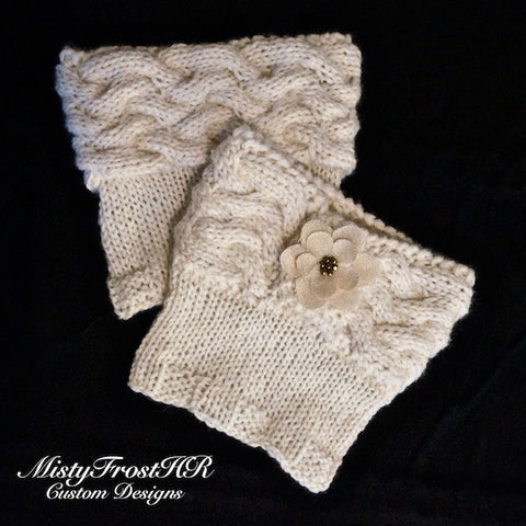 Woven Cable Knit Boot Cuffs
