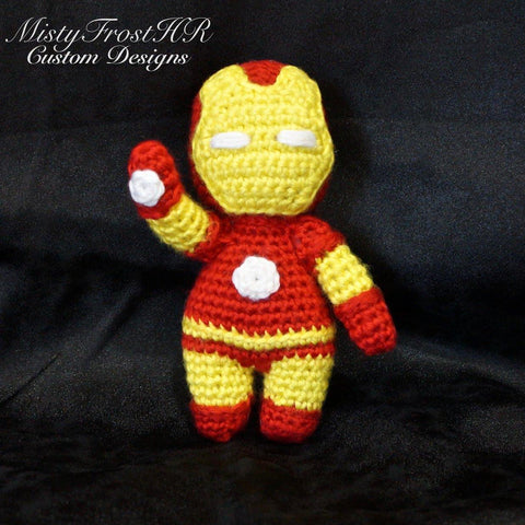 "*****     Digital Crochet Pattern     *****     Iron Man 6-7"" Plush Doll"