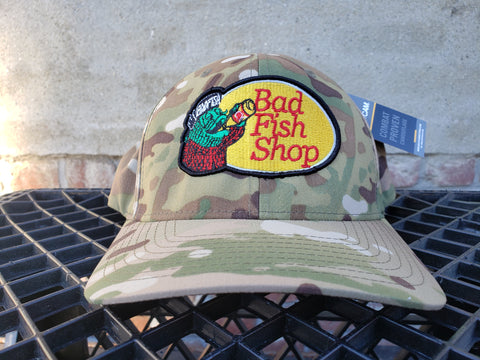 "Badfish ""Pros Only"" Camo Flexfit"