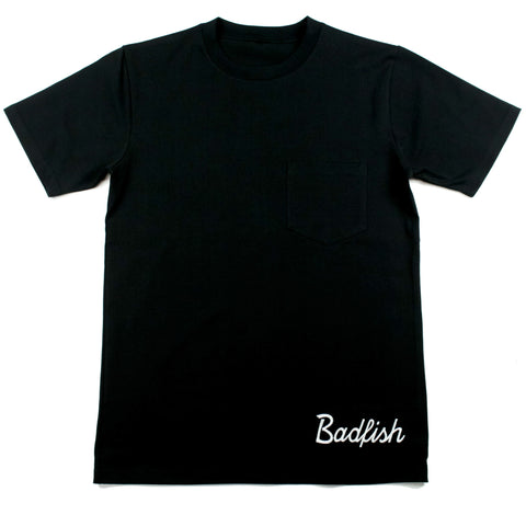 Badfish Script Embroidered Tee