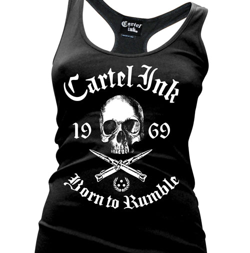 Born To Rumble Women's Racer Back Tank Top
