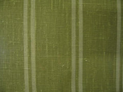 Berlin Green 10 Stripes 100% Linen  (Medium/Heavy Weight | 56 Inch Wide| ) Promotional Collection