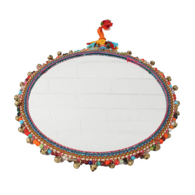 Brass Bohemian Beaded Mirror